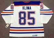 PETR KLIMA Edmonton Oilers 1990 Home CCM NHL Vintage Throwback Jersey