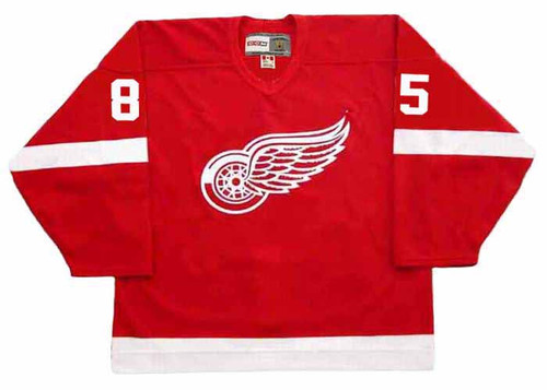 PETR KLIMA Detroit Red Wings 1987 CCM NHL Vintage Throwback Jersey - FRONT