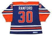 BILL RANFORD Edmonton Oilers 1990 Away CCM NHL Vintage Throwback Jersey
