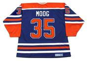 ANDY MOOG Edmonton Oilers 1985 Away CCM NHL Vintage Throwback Jersey