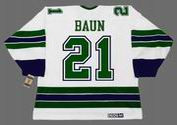 BOBBY BAUN Oakland Seals 1967 Away CCM NHL Vintage Throwback Jersey - BACK