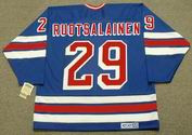 REIJO RUOTSALAINEN New York Rangers 1984 Away  CCM NHL Vintage Throwback Jersey