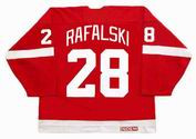 2008 CCM Home Throwback Vintage BRIAN RAFALSKI Red Wings Jersey - BACK