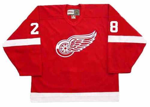 2008 CCM Home Throwback Vintage BRIAN RAFALSKI Red Wings Jersey - FRONT