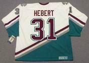 GUY HEBERT Anaheim Mighty Ducks 1995 Home CCM NHL Vintage Throwback Jersey - BACK