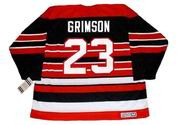 STU GRIMSON Chicago Blackhawks 1992 CCM Vintage Throwback NHL Hockey Jersey - BACK