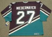 SCOTT NIEDERMAYER Anaheim Mighty Ducks 2006 Home CCM NHL Vintage Throwback Jersey - BACK