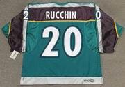 STEVE RUCCHIN Anaheim Mighty Ducks 1997 Alternate CCM NHL Throwback Jersey - BACK