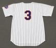 BUD HARRELSON New York Mets 1969 Home Majestic Baseball Throwback Jersey - BACK