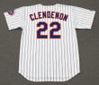 DON CLENDENON New York Mets 1969 Home Majestic Baseball Throwback Jersey - BACK
