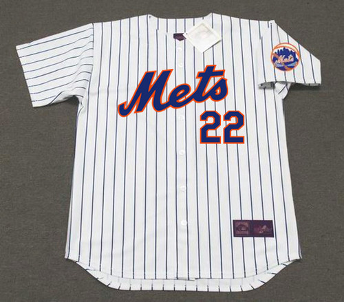 DON CLENDENON New York Mets 1969 Home Majestic Baseball Throwback Jersey - FRONT