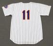 WAYNE GARRETT New York Mets 1969 Home Majestic Baseball Throwback Jersey - BACK