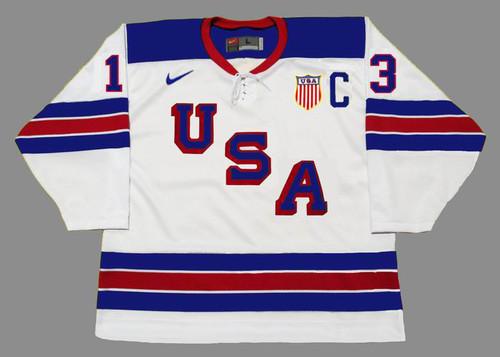 ZACH WERENSKI 2016 USA Nike Throwback Hockey Jersey - FRONT