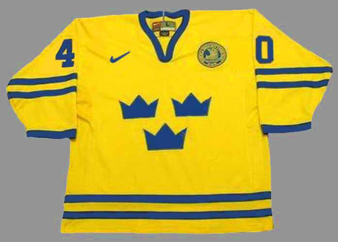sports shoes cbe74 4ab92 ELIAS PETTERSSON Team Sweden Nike Olympic Throwback Hockey Jersey