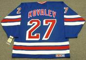 ALEX KOVALEV New York Rangers 1995 CCM Vintage Throwback NHL Hockey Jersey - BACK