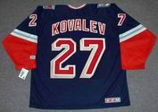 ALEX KOVALEV New York Rangers 1996 CCM Throwback Alternate NHL Jersey - BACK