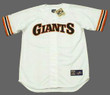 WILLIE MAYS San Francisco Giants 1980's Home Majestic Baseball Throwback Jersey - FRONT