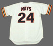 WILLIE MAYS San Francisco Giants 1980's Home Majestic Baseball Throwback Jersey - BACK