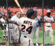 WILLIE MAYS San Francisco Giants 1980's Home Majestic Baseball Throwback Jersey - ACTION