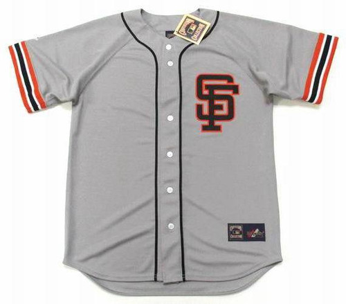 WILLIE MAYS San Francisco Giants 1980's Away Majestic Baseball Throwback Jersey - FRONT