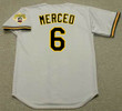 ORLANDO MERCED Pittsburgh Pirates 1992 Majestic Throwback Away Baseball Jersey - BACK