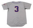 BUD HARRELSON New York Mets 1973 Away Majestic Baseball Throwback Jersey - BACK