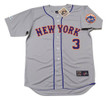 BUD HARRELSON New York Mets 1973 Away Majestic Baseball Throwback Jersey - FRONT
