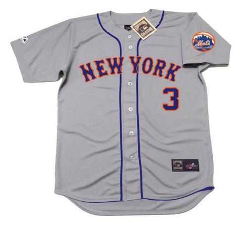 BUD HARRELSON New York Mets 1973 Away Majestic Baseball Throwback Jersey - FRONT