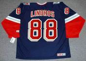 ERIC LINDROS New York Rangers 2001 CCM Throwback Alternate NHL Jersey - BACK