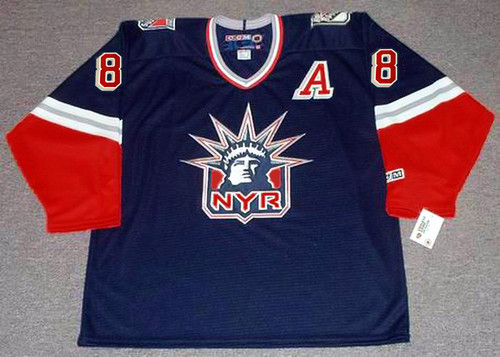 ERIC LINDROS New York Rangers 2001 CCM Throwback Alternate NHL Jersey - FRONT