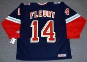THEOREN FLEURY New York Rangers 2001 CCM Throwback Alternate NHL Jersey - BACK