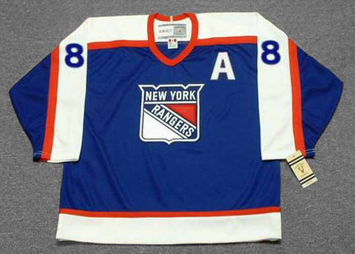 ERIC LINDROS New York Rangers 2003 CCM Vintage Throwback NHL Hockey Jersey - FRONT