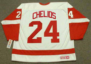 2002 CCM Home Throwback Vintage CHRIS CHELIOS  Red Wings Jersey - BACK