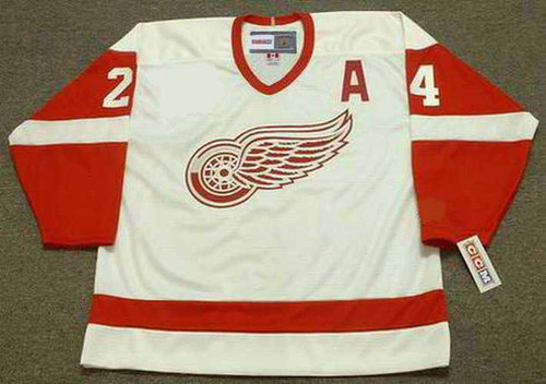 2002 CCM Home Throwback Vintage CHRIS CHELIOS  Red Wings Jersey - FRONT
