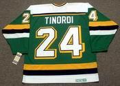 MARK TINORDI Minnesota North Stars 1989 CCM Vintage Throwback NHL Jersey