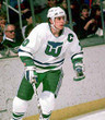 RON FRANCIS 1986 Home CCM Hartford Whalers Jersey - ACTION