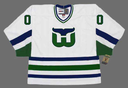 HARTFORD WHALERS 1980's Home CCM Customized Throwback Jersey - FRONT