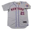 CLEON JONES New York Mets 1973 Away Majestic Baseball Throwback Jersey - FRONT