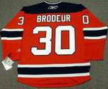 MARTIN BRODEUR New Jersey Devils 2010 REEBOK Throwback NHL Hockey Jersey