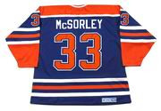 MARTY McSORLEY Edmonton Oilers 1987 CCM Vintage Away NHL Hockey Jersey