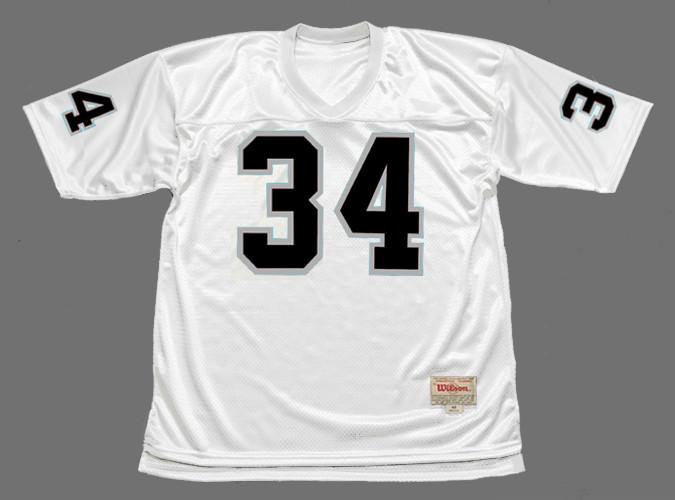 BO JACKSON Los Angeles Raiders 1987 Away NFL Football Throwback Jersey