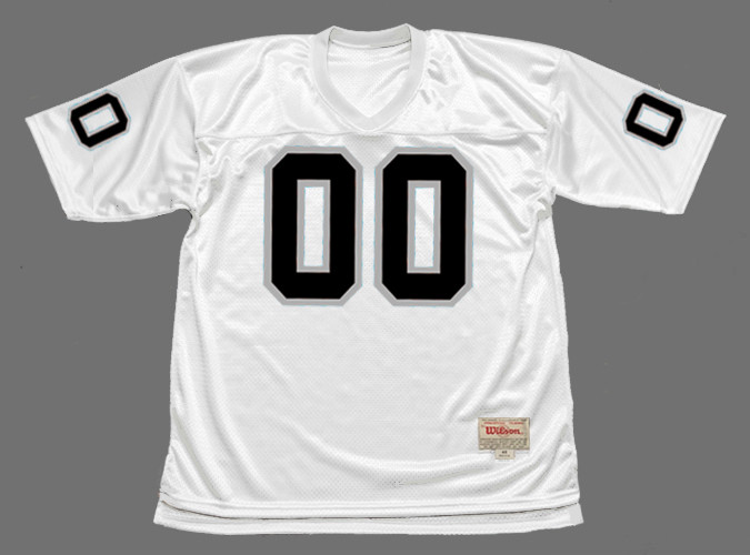 official photos 8b293 896bc OAKLAND RAIDERS 1970's Away Throwback NFL Jersey Customized