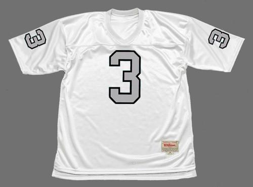 DARYLE LAMONICA Oakland Raiders 1970 Away Throwback NFL Football Jersey - FRONT