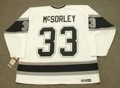 MARTY McSORLEY Los Angeles Kings 1993 Home CCM Throwback NHL Hockey Jersey - BACK