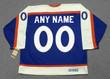 Customized 1970's Away CCM New York Rangers Retro Jersey - BACK