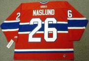 MATS NASLUND Montreal Canadiens 1986 CCM Throwback Away NHL Hockey Jersey