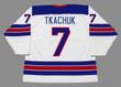 BRADY TKACHUK 2018 USA Nike Throwback Hockey Jersey - BACK