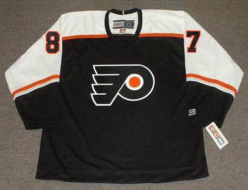 DONALD BRASHEAR Philadelphia Flyers 2002 CCM Throwback NHL Hockey Jersey - FRONT