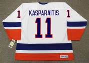 DARIUS KASPARAITIS New York Islanders 1993 Home CCM Vintage Throwback Hockey - BACK