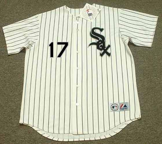 reputable site 08f33 3048b KEN GRIFFEY JR. Chicago White Sox 2008 Home Majestic Throwback Baseball  Jersey